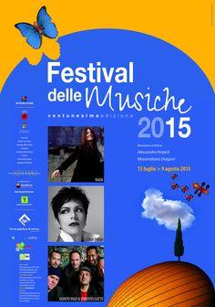 ttps://flic.kr/p/uueC6d | Festival delle Musiche 2015 - il manifesto. Dal 15 luglio all'8 agosto 2015 nei Comuni della Val di Chiana - Arezzo.