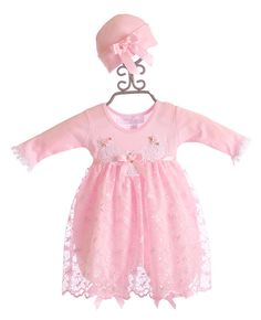 Katie Rose Infant Pink Lace Bloomer Dress and Hat $78.00
