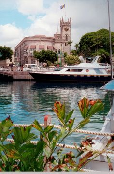 Bridgetown from the harbour   Barbados(by Rodger E Clark).