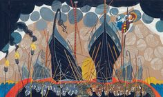 illustration by Neil Packer from the Candlewick Press edition of the Iliad, translated by Gillian Cross.