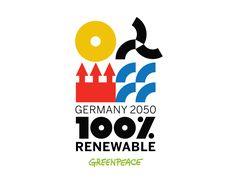 Greenpeace 100% Renewable Energy by Christopher Dina, via Behance