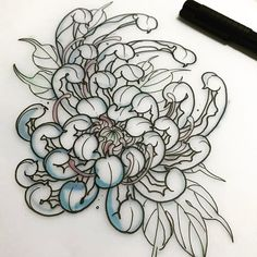 I sincerely fancy the shades, lines, and fine detail. This is an exceptional choice if you want inspiration for a Sketch Tattoo Design, Tattoo Sleeve Designs, Flower Tattoo Designs, Tattoo Sketches, Tattoo Drawings, Sleeve Tattoos, Japanese Mask Tattoo, Japanese Flower Tattoo, Japanese Flowers