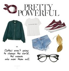 """""""Girl power"""" by manns4252 on Polyvore featuring One Teaspoon, MANGO, J.Crew, Vans and bomberjackets"""