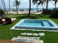 Private plunge pool, ocean front suite at Zoetry, Punta Cana...amazing.