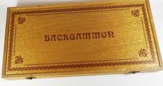 1970s Wooden Backgammon Set - Vintage Board Game