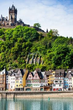 Cochem, Germany: In Germany's Rhineland-Palatinate state. Its most distinguishing feature is a historic castle that peers over the town and the banks of the Moselle river. Travel Info, Europe Travel Tips, Travel Ideas, Travel Guide, The Beautiful Country, Beautiful Places, Paradise On Earth, European Vacation, Iceland Travel
