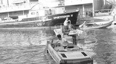 1960's Redondo Beach Harbor Boat/Car.