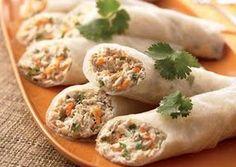 Tuna Rice-Paper Wrap