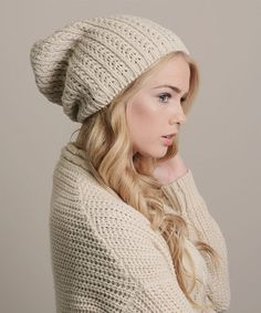 Love these Pointelle Slouch Beanie by Leto Collection in the Ivory, Gray, Black, Mocha, & Red #zulilyfinds