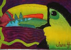 We love #toucans and the colors of this #art