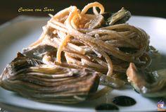 Pasta con carciofi e crema di ricotta