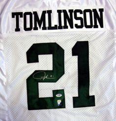 LaDainian Tomlinson Autographed New York Jets White Jersey PSA/DNA Stock