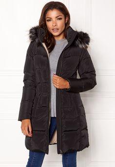 Chiara Forthi Svalbard Down Puffa Black / Beige Bubbleroom. Facon, Fur Coat, Winter Jackets, Beige, Suits, Black, Model, Winter Coats, Taupe