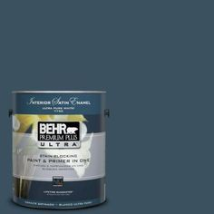 BEHR Premium Plus Ultra 1-Gal. #PPU13-20 Restless Sea Satin Enamel Interior Paint-775301 - The Home Depot