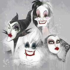 Maleficent // Cruella DeVille //The Evil Queen // Ursula // Disney Villains
