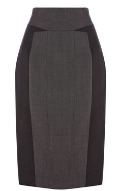 Grey fashion suit skirt