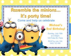 Minions Party Food Label Template Instant by ArtworkByAnti on Etsy