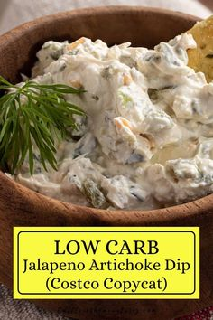 This naturally low carb Jalapeno Artichoke Dip is going to be your favorite Costco Copycat go to dip. This Jalapeno dip has kick! #easyketo #castleinthemountains #lowcarbdip Jalapeno Dip, Low Carb Crackers, Artichoke Dip, No Calorie Foods, Quick Snacks, Costco, Diet And Nutrition, Copycat Recipes, Food Hacks