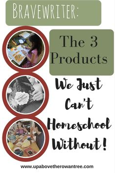 3 Brave Writer Products We Can't Homeschool Without! @nadinejane