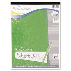 MEAD PRODUCTS                                      Academie Sketch Pad, 9 x 12, White, 50 Sheets (Set of 2)
