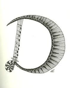 """das D"", Zentangle, Hermann Hirner, Hermannsky"