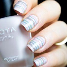 Stripes with Zoya Naturel Satin Collection. #zoyanailpolish #zoyanaturel #nailartinspiration #nails #nailart #nailswag #nailsgram #instanails #mani #manicure #nailsoftheday #nailpolish #nailartofinstagram
