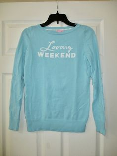 9e0cb44b Lilly Pulitzer S Marielle Sweater Blue Long Weekend Intarsia Shorely Light  Small #LillyPulitzer #preppy