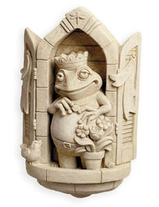 """""""Standing on his balcony, this #FrogPrince surveys his new home stead. Not just a sculpture or figurine, this is royalty! Hang him on a deck or display this prince in a child's room."""" #CarruthStudio"""