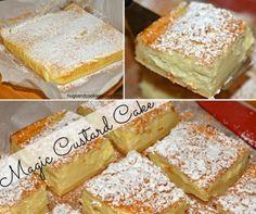 Magic Custard Cake 3 Layers One Batter Easy Video Tutorial Sweet Desserts, Just Desserts, Sweet Recipes, Delicious Desserts, Dessert Recipes, Pudding Recipes, Cupcake Recipes, Yummy Food, Magic Custard Cake