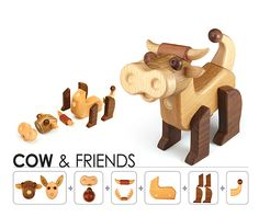 Anymal Transforming Toys - Myzoo (Cow & Friends Kit) from Art House Co., Ltd. B2B marketplace portal & South Korea product wholesale.
