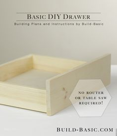 Build an Basic DIY Drawer - Building Plans by @BuildBasic www.build-basic.com