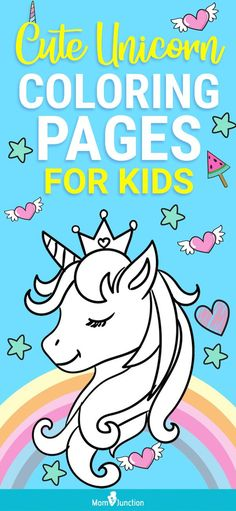 This article includes some of the outstanding unicorn coloring sheets. These fun and educational free unicorn coloring pages to print will allow children to travel to a fantasy land full of wonders, while learning about this magical creature.
