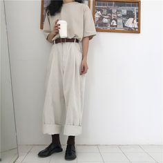 straight cut pants best outfits The clothing culture is quite old. Girly Outfits, Mode Outfits, Korean Outfits, Pretty Outfits, Grunge Outfits, Casual Outfits, K Fashion, Moda Fashion, Trendy Fashion