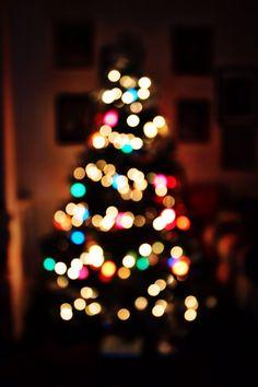 Christmas. Christmas tree. Bokeh. Unfocused. Photography. Carrie McClellan photography.