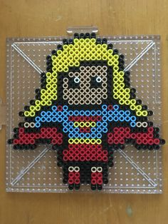 Supergirl perler bead pattern