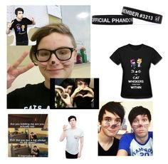 """""""Dan And Phil"""" by thelittlefanthatcould ❤ liked on Polyvore"""