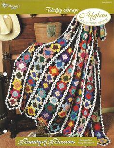 Crochet Flower Scrap Afghan Pattern Home by KnitKnacksCreations