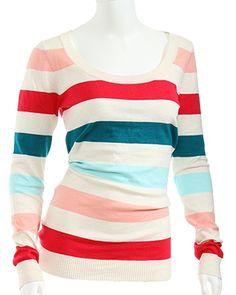 rue21 Soft Striped Scoop Neck Sweater. $19.99
