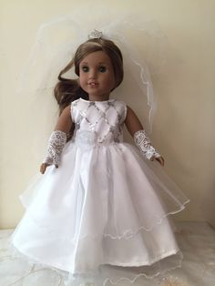 A personal favorite from my Etsy shop https://www.etsy.com/listing/285550959/american-girl-bride-or-first-communion