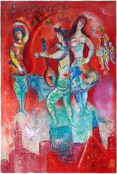 Chagall Lithograph Signed, Carmen