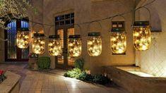 $45 · Set of 6 mason solar lights jars- pending pick up — Nextdoor Hanging Mason Jars, Mason Jar Lamp, Balloon Arch, Balloon Garland, String Lanterns, End Of Summer, Summer Bash, Pink Table, Jar Lights
