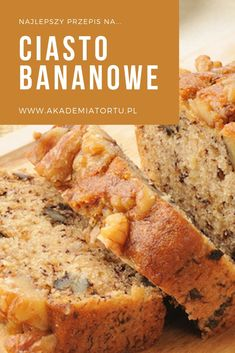 Sweet Recipes, Cake Recipes, Healthy Desserts, Healthy Recipes, Banana Bread, Food And Drink, Cooking, Cakes, Yummy Yummy