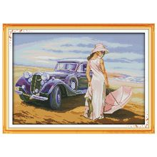 Free Ship Car Model Patterns Counted Cross Stitch 11CT 14CT Cross Stitch Sets Chinese Cross-stitch Kits Embroidery Needlework(China)