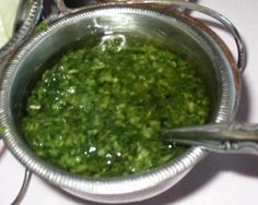 Chimichurri sauce = ideal for steak!  HispanicKitchen.com