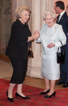 Queen Beatrix of The Netherlands at Queen Elizabeth's Diamond Jubilee Monarchy Luncheon