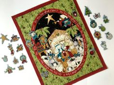 Advent Calendar  Quilted Religious Nativity  Wall by SallyManke