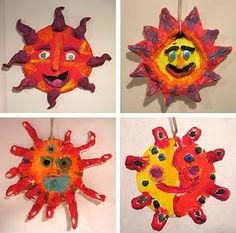 Elementary Art Ceramic Lesson clay 5th grade Mexico Mexican Suns