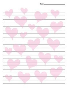 Free Valentines Stationery Paper | Valentine writing paper with border