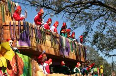 I want to be one of the people throwing the beads on a Mardi Gras float.