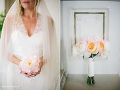 Pretty, soft pink, white & peach peonies for the bride Jordan Foster. Flowers by Eric Buterbaugh. Photographed by Heather Kincaid heatherkincaid.com